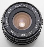 Petri Super Coated 28mm 28 mm 1:2.8 2.8 - Pentax PK