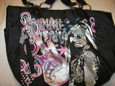 hannah montana purse  12 x 8 magnet closure  silver picture front  cute