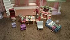 Fisher Price Loving Family Grand Mansion Doll House With Furniture & People NICE