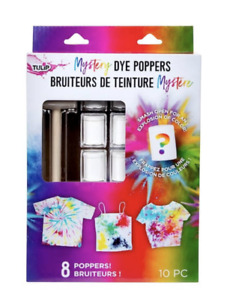 Tulip Mystery Dye Poppers, 10 Pieces-(8) Poppers, (1) Mallet, (1) Instructions