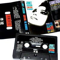 JANET JACKSON CONTROL THE REMIXES 1986 CASSETTE TAPE ALBUM CHROME CLASSIC POP