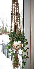 Hippie Home Decor, Jute Macrame plant hanger Hanging Planter 70s Vintage Macrame