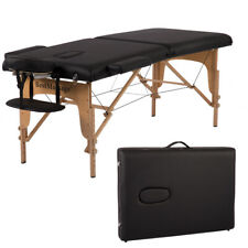 "2"" Pad 73"" Pu Portable Massage Table w/ Carry Case Bed Spa FacialRefurbished"
