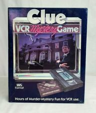 Vintage 1985 Parker Brothers CLUE Murder Mystery VCR Game 100% COMPLETE