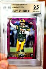 BGS 9.5 Gem Mint AARON RODGERS 2015 Topps Chrome Mini SSP PINK Prizm /25 Packers