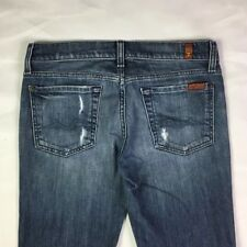 "Women's 7 For All Mankind Size 27 Boot Cut 29"" Inseam 5 Pocket 15"" Waist Jeans"