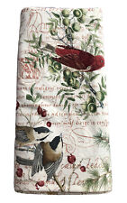 Gorgeous Pottery Barn Winter Birds Full Queen Bed Duvet Cover Christmas Script