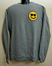 General Quarters GQCA Solid Gray Smiley Face Crew Neck Sweatshirt Men's Large