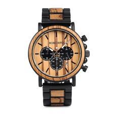 Holzuhr Chronograph Herren Uhr BOBO BIRD Wood Watch Sommer Handmade Herrenuhr