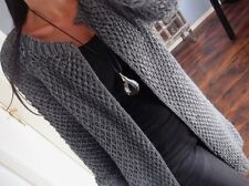 1962c2cd164b97 Long Cardigan Mantel Neu L 42 Warm Wolle Strick Jacke Knit Blogger Mohair  Lana