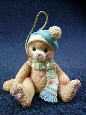 Enesco Calico Kittens Ornament Kitten With Blue Hat NEW (a2877)