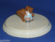 Hallmark Easter Merry Miniature Squirrel with Paint Can 1990 Seal Intact Used?