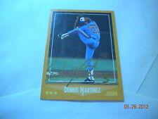 19888 SCORE # 601 DENNIS MARTINEZ autographed card