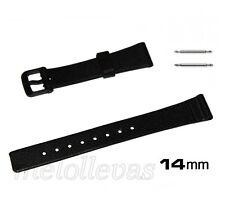 Correa de plastico negra para reloj Casio LQ87 LQ124  y otros 14mm con pasador