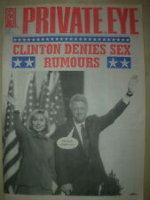 PRIVATE EYE MAGAZINE No 836 DECEMBER 31 1993 CLINTON DENIES SEX RUMOURS