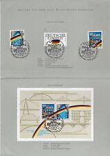 ALLEMAGNE Germany Bloc Feuillet Yvert N° 21 + Timbres N° 1310/1313/1314 Oblitéré