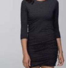 LULULEMON ANYTIME DRESS Heathered BLACK STRIPED Size 8❤️SUPER FLATTERING ❤️RARE