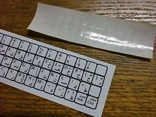 TRANSPARENT ARABIC KEYBOARD STICKERS WITH DIRECTIONS GREY LETTERS