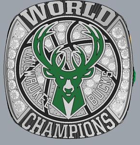 2021 Finals Milwaukee Bucks National Basketball Championship Ring ANTETOKOUNMPO