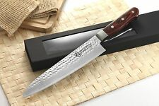 Japanese VG-10 Hammered 67 Layers Damascus Gyuto Chef Chef knife 9.5 vs Ran SHUN