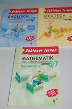 Schlauer lernen Englisch;  Deutsch Klasse 7, Mathematik Klasse 6/7 neu
