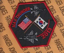 "USAF Air Force 36th Fighter Squadron FS Max Thunder 2013 3.5"" patch"