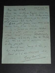 SERGE BASSET CARTE PNEUMATIQUE AUTOGRAPHE SIGNEE A MICHEL MORTIER THEATRE 1913