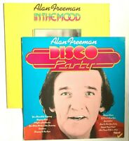 "2 x ALAN FREEMAN Vinyl LP ""DISCO PARTY' + 'IN THE MOOD' 1970's Disco"