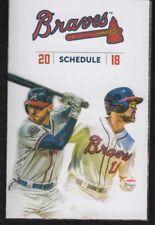 Atlanta Braves 2018 Pocket Schedules - Freeman, Inciarte A List Version