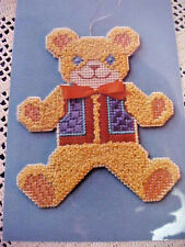 Counted Cross Stitch Kit on Perforated Paper Ted Bear Joyce Martin 5 x 4 1/4