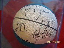 VTG 90's Detroit Pistons Autographed ball Grant Hill Dumars Thorpe Hunter Mills