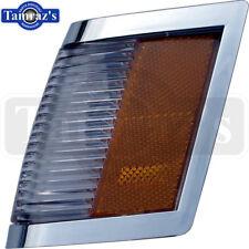 84-87 Regal Headlight Bezel CHROME SIDE MARKER LIGHT Parking Turn Lamp Lens - LH