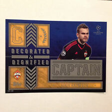 IGOR AKINFEEV Moskva Captain D&D #ed/10 Made 2016 Topps Champions UEFA 5X7 GOLD