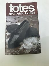 New Totes Geometric Loafers Dress Rubbers Overshoe Shoe Covers Large 10-11.5 NIB