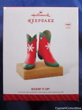 2014 Hallmark Keepsake Ornament Kickin' It Up! Cowboy Boots Magic Sound NIB