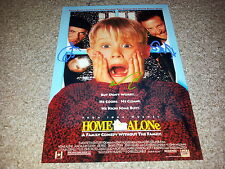 "HOME ALONE CAST x3 PP SIGNED 12""X8"" PHOTO POSTER MACAULAY CULKIN JOE PESCI"