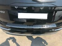 Volvo XC-90 2015Up Chrome Rear Bumper Protector Scratch Guard S.Steel