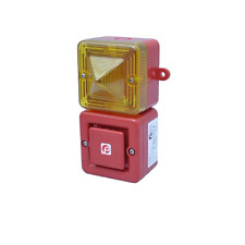 E2S SONFL1X Combined sounder & xenon beacon, 230 VAC, red/yellow