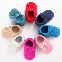 Baby Shoes Tassel Soft Sole Leather Shoes Infant Boy Girl Toddler Moccasin