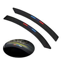 2x Sports Style Car Bumper Corner Protector Guard Rubber Anti-Scratch Trim Black