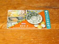 Voll/Mint DÄNISCHE ECU 3 Telekort 5 KR Münzenmotiv Luxemburger Francs Banknoten