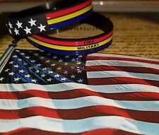 Thin Blue Line, Police, Firefighter, Military Support Silicone Wristband