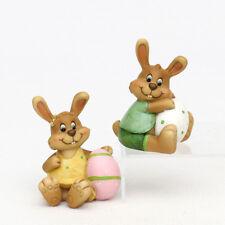 2x poli Conejo de Pascua con Huevo Set 9cm Decoración pasuca CÓMIC 25133