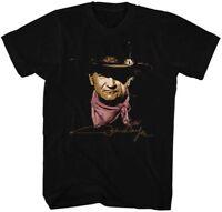 John Wayne The Duke T-Shirt Sizes SM - 5XL Wayne in 100% Black Cotton