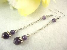 Hook Drop/Dangle Amethyst Fashion Earrings