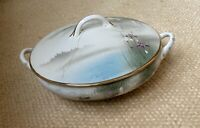 Vintage / Antique Japanese Lidded Tureen, Hand Painted, Gilt Edge- Early 20thC