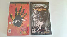 PACK 2 JUEGOS:INFECTED y MOSNTER HUNTER FREEDOM UNITE SONY PSP PAL ESPAÑA
