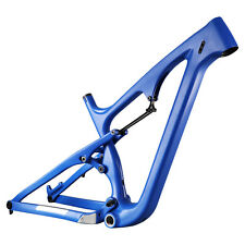 26er Carbon Full Suspension Fatbike Frame M Size 18 inch 120mm Travel 197mm Rear