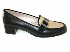 Brighton Adele Loafers Dress Shoes Pumps USA 7 N Black Cream NEW $205