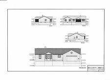 Full Set of single story 3 bedroom house plans 1,940 sq ft